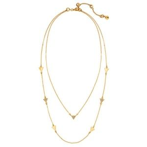 NEW Pave Triangle Convertible Layering Necklace